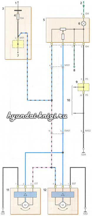 электросхемы Hyundai Accent