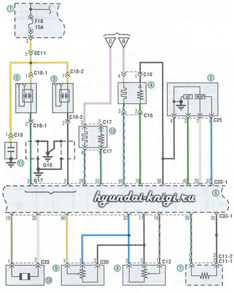 электросхемы Hyundai Getz