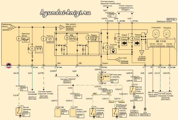 электрическая схема хундай